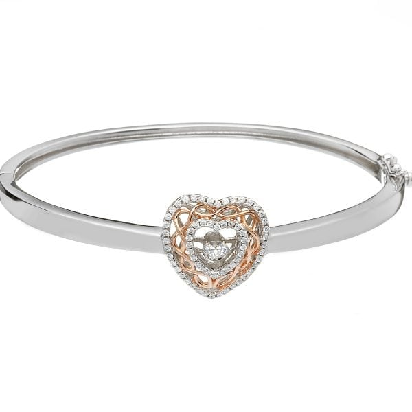 Dancing Stone Heart Bangle