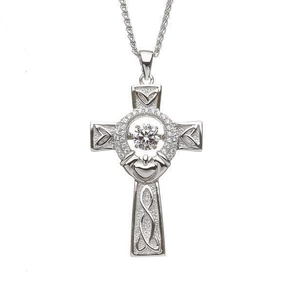 Claddagh Silver Celtic Cross