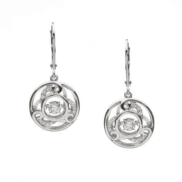 Dancing Stone Triskele Earrings