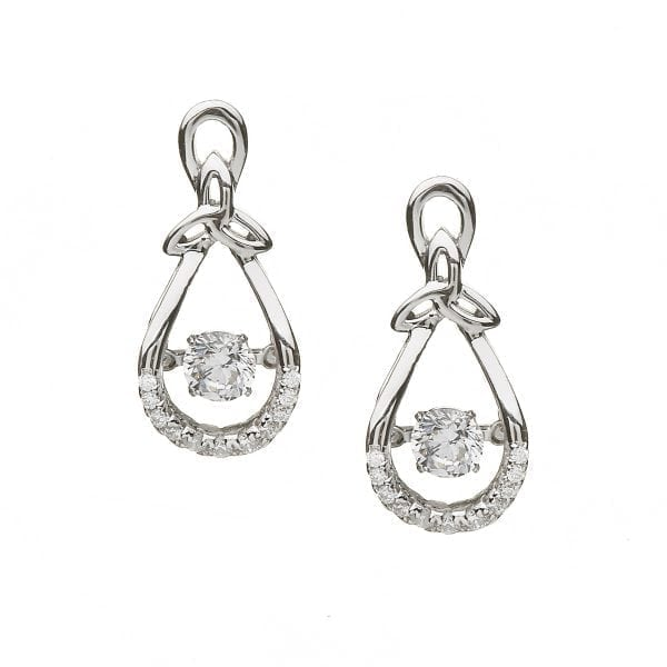 Dancing Stone Trinity Bow Earrings