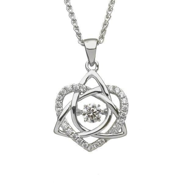 Silver Pendant Dancing Stone