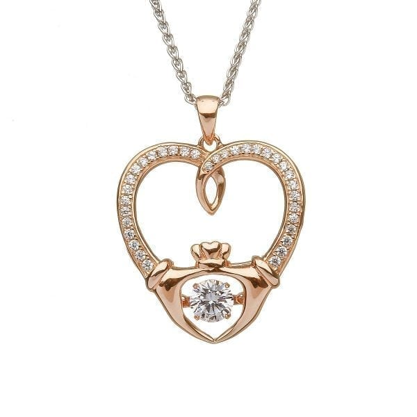 Dancing Stone Claddagh Pendant