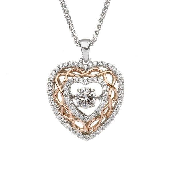 Dancing Stone Heart Pendant