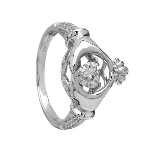 Dancing Stone Claddagh Ring