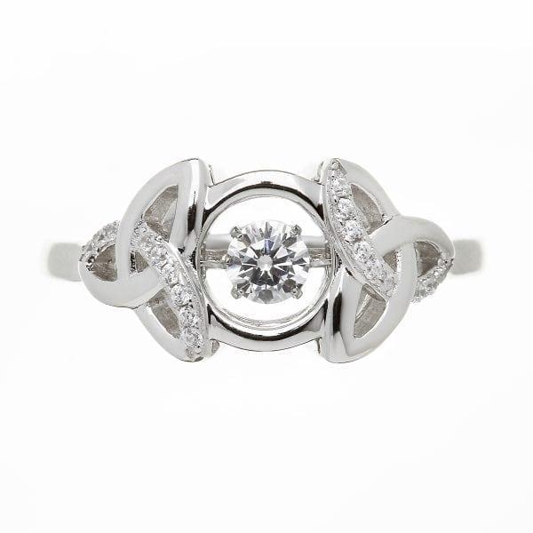 Trinity Dancing Stone Ring