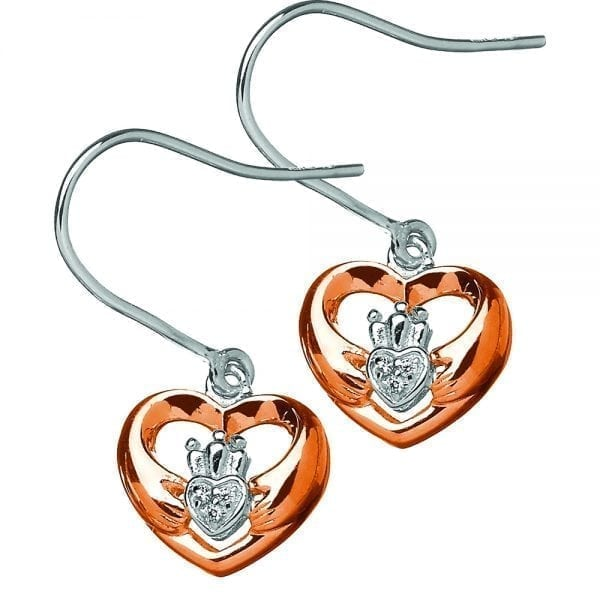 Claddagh Heart Earrings