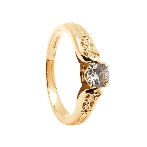 14K Gold Ring Trinity-0.25cts Diamond