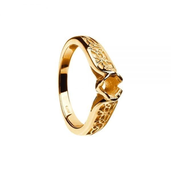 14K Gold Trinity Ring Mount Only