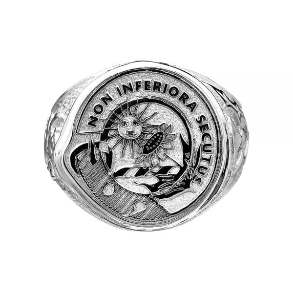 Gents Hollow Back Scottish Ring with Motto