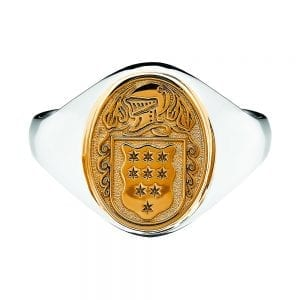 Ladies Petit Solid Coat of Arms Ring - Celtic Jewelry by Boru ®