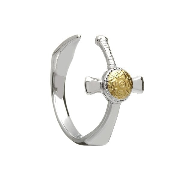 Nuada Silver and 18K Gold Plate Ring