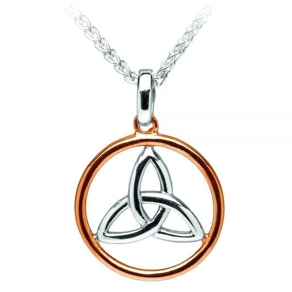 Silver Pendant Essential Trinity Circle
