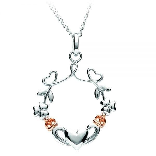 Heart Shamrock Claddagh Pendant