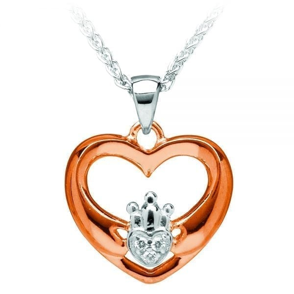 Claddagh Heart Silver Pendant