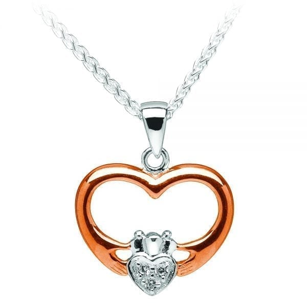 Silver Pendant Claddagh Heart