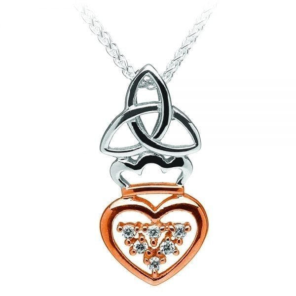 Silver Trinity Claddagh Pendant