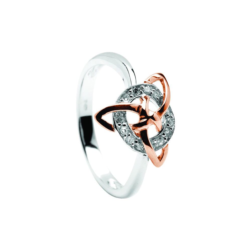 ROSE RING STERLING SILVER Size.US=6UK=L
