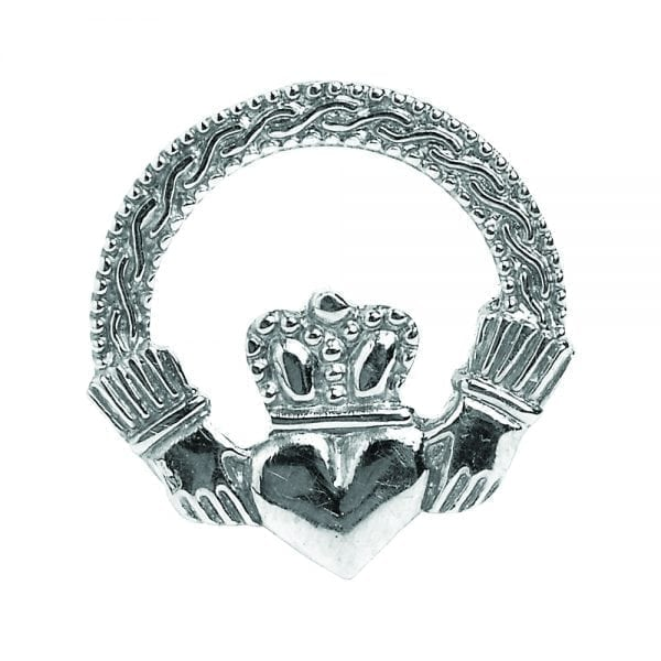 Engraved Claddagh Tie Pin