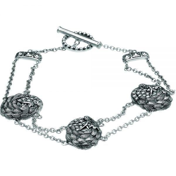 Silver Bracelet Danu with White CZ