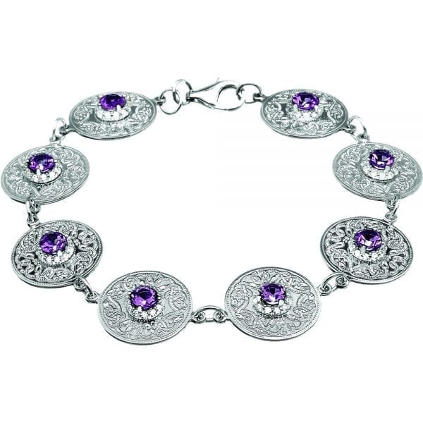 Amethyst Celtic Warrior Bracelet