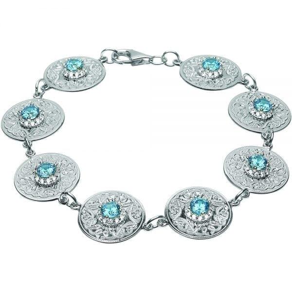 Swiss Blue Celtic Warrior Bracelet