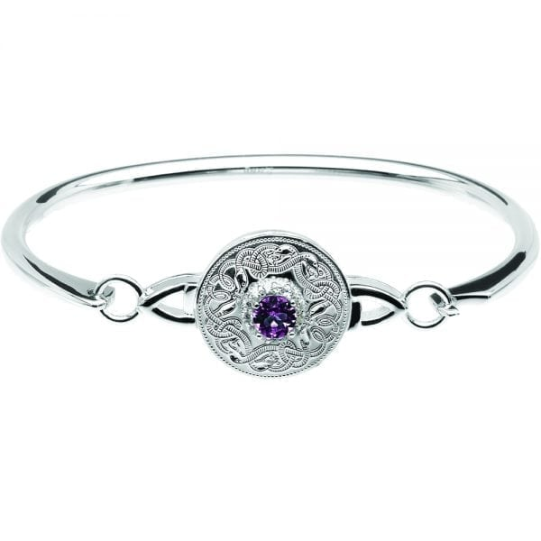 Amethyst Celtic Warrior Bangle