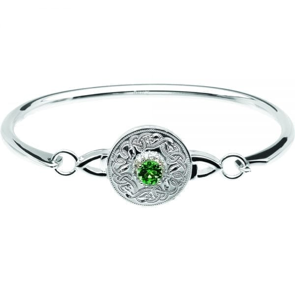 Emerald Celtic Warrior Bangle