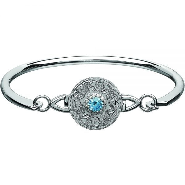 Swiss Blue Celtic Warrior Bangle