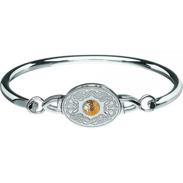 Oval Celtic Warrior Bangle
