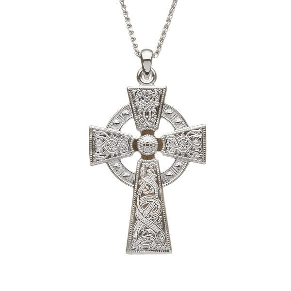 Silver Celtic Warrior Cross