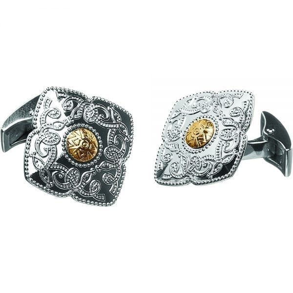 Kite Shaped Celtic Warrior Cufflinks