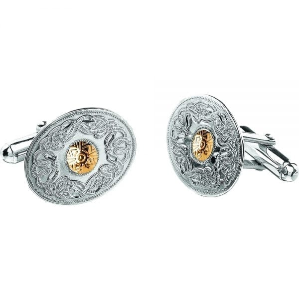 Oval Celtic Warrior Cufflinks