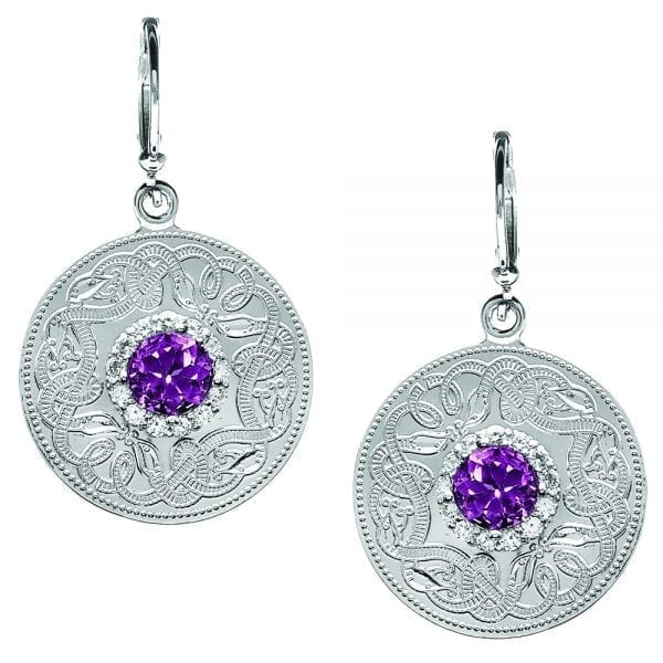 Amethyst Celtic Warrior Earrings