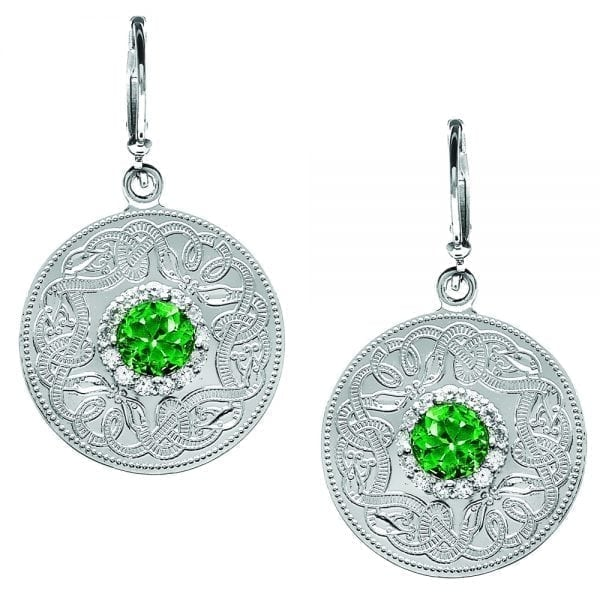 Emerald Celtic Warrior Earrings