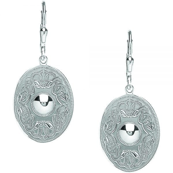 Celtic Warrior Oval Earrings