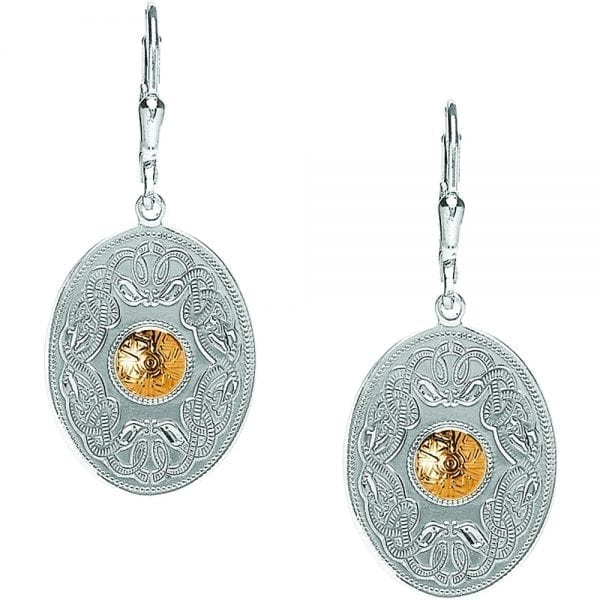 Oval Celtic Warrior Earrings