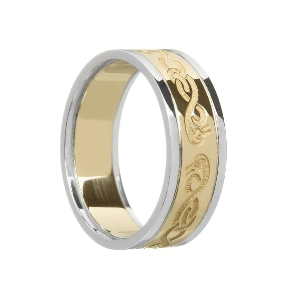Ladies Le Cheile Wedding Ring with Trims