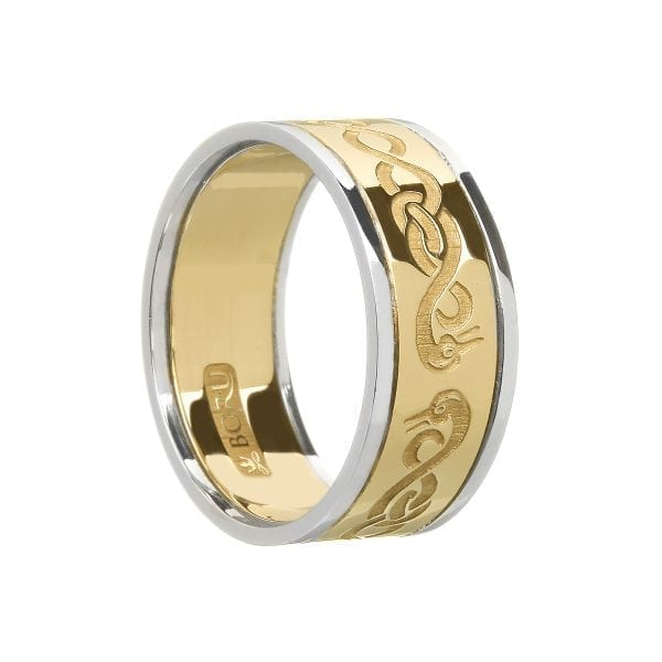 Gents Le Cheile Wedding Ring with Trims