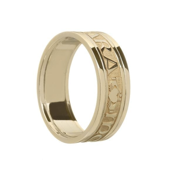 Ladies Mo Anam Cara Soul Mate Wedding Ring with Trim