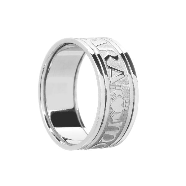 Gents Mo Anam Cara Soul Mate Wedding Ring with Trims