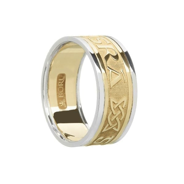 Gents Gra Go Deo – Love Forever Wedding Ring with Trims