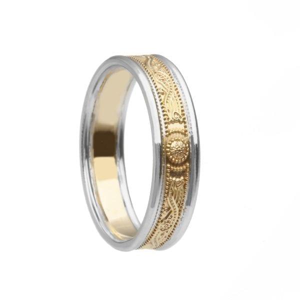 Celtic Warrior Shield Wedding Ring