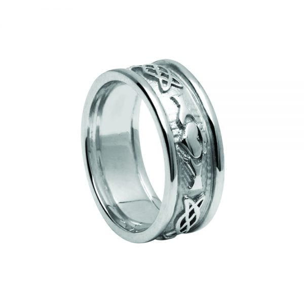 Ladies Celtic Knot Claddagh Ring