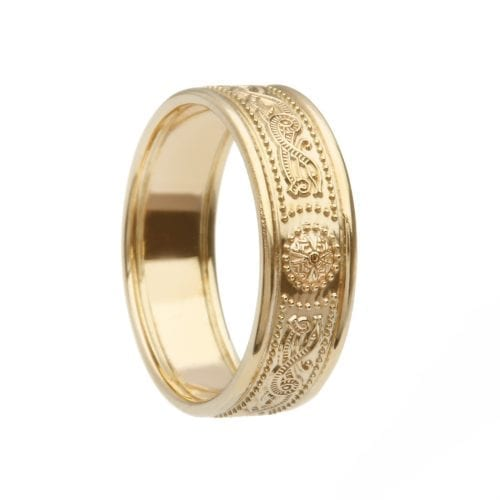 Celtic Warrior Shield Wedding Ring - Gold