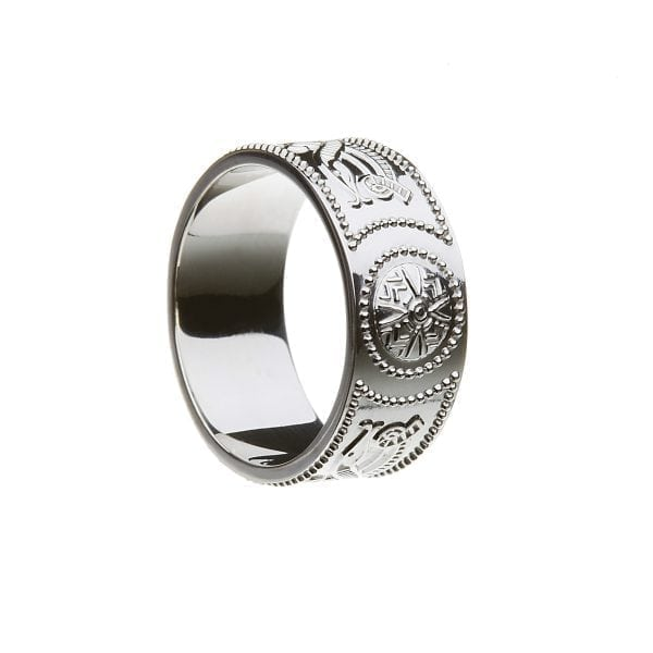 Celtic Warrior <sup></noscript>®</sup> Shield Wedding Ring – Extra Wide
