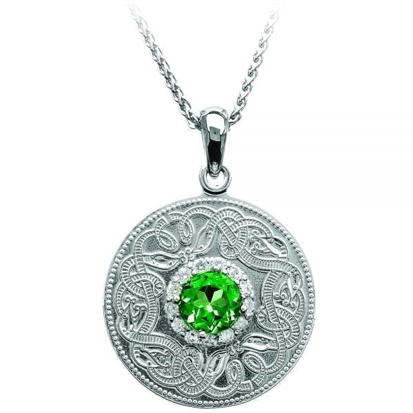 Emerald Celtic Warrior Necklace