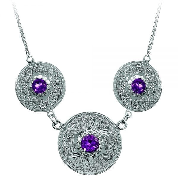 Amethyst Celtic Warrior Pendant