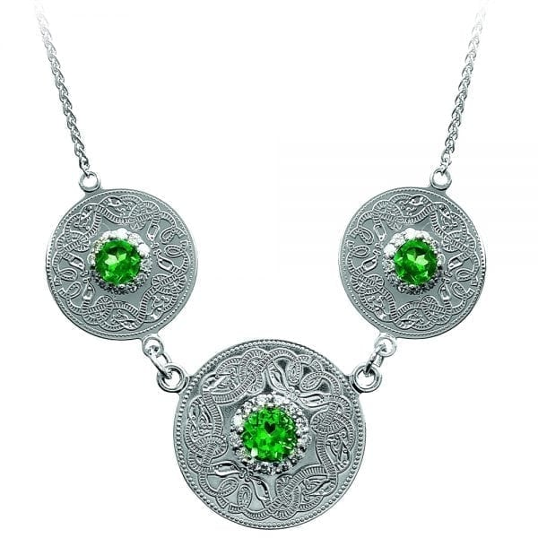 Emerald Celtic Warrior Pendant