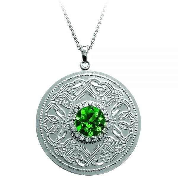Large Emerald Celtic Warrior Necklace