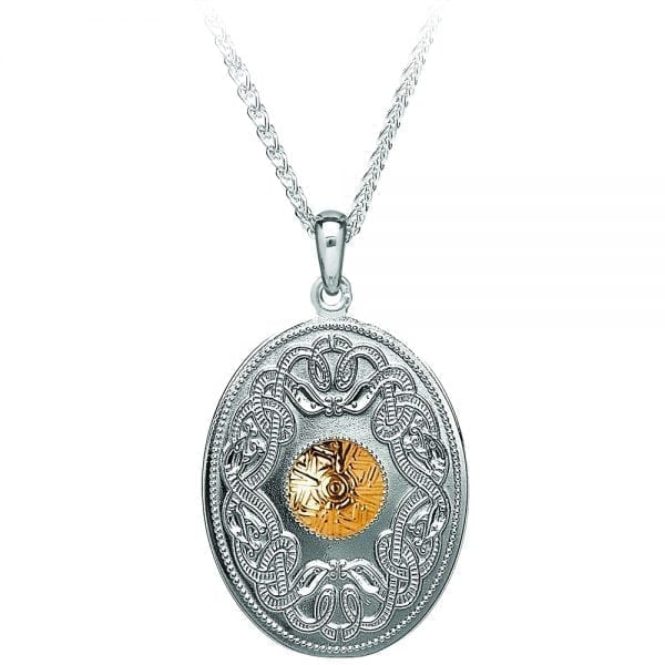 Celtic Warrior Oval Pendant